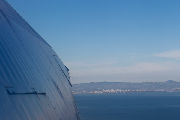 Tactical take off from SFO, 70 degree climb.