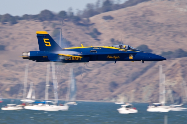 Blue Angel No. 5 high-speed pass.