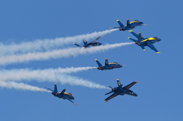 Blue Angels break.