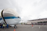 Super Guppy opens its nose. (Photo by Liem Bahneman/NYCAviation)