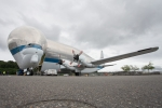 Super Guppy with its nose wide open. (Photo by Liem Bahneman/NYCAviation)