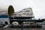 US Air Force Tunner vehicle offloading the Shuttle FFT from the NASA Super Guppy. (Photo by Liem Bahneman/NYCAviation)