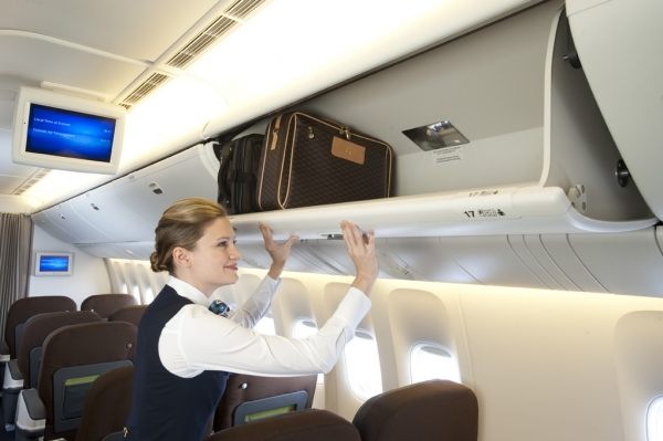 Overhead bins. (Photo courtesy of Turkish Airlines)