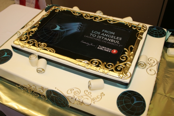 A cake in honor of the occassion. (Photo by Stephen Shrank/NYCAviation)