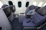 United Airlines Boeing 787 Dreamliner Business Class seats. (Photo by Dan King/NYCAviation)