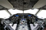 In the cockpit of the first United Airlines 787 Dreamliner. (Photo by Dan King/NYCAviation)