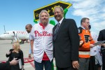 Sir Richard Branson poses with Congressman Chaka Fattah.