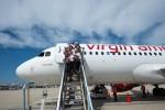 Virgin America Flight 10 arrives at PHL. (Photo by Manny Gonzalez/NYCAviation)