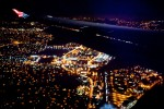 Over San Francisco at night. (Photo by Thomas Hawk via Flickr)