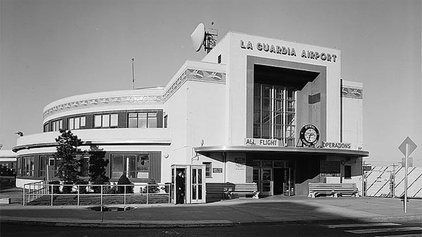 Survey photo of LaGuardia Airport's Marine Air Terminal, built in 1940. Photo taken in 1974.