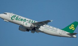 Spring Airlines A320 B-1951 takes off on its delivery flight from Tolouse. (Photograph by Christophe Ramos)