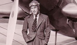 Jim Mollison at Floyd Bennett Field, Brooklyn, New York, 1936.