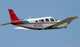 This is the Piper PA-32 Cherokee Six (N71MC) that collided with a helicopter over the Hudson. (Photo by Paul Kanagie)