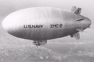 U.S. Navy's ZMC-2 metal skinned airship.