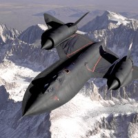 The SR-71 Blackbird, belonging to the US Air Force.