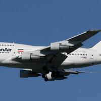 Iran Air 747SP on final approach to JFK