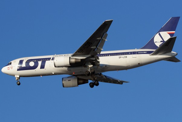 LOT Poland was born in 1929. Here, a 767-300 of theirs is on approach to JFK. (Photo by Brian Futterman)