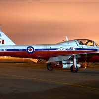 Gorgeous photo of a Canadian CT-114 Tutor after the Snowbirds performed at the 2009 Jones Beach Air Show in New York. (Photo by John Klos)