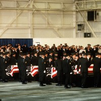 Memorial service for the soldiers who died aboard Arrow Air Flight 1285.