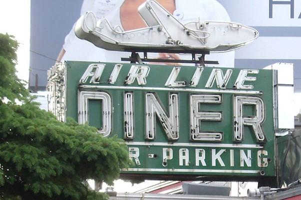 Initial planning of the Lufthansa Heist occurred during a meeting at the Airline Diner near LaGuardia Airport on Astoria Blvd. Today known as the Jackson Hole Diner, the landmark neon Airline Diner sign still stands.
