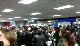 Delta security line Tuesday morning.