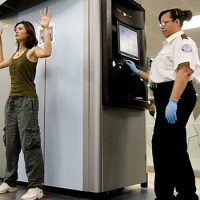 "In an effort to make security more fun, passenger are urged to dance during body scanning while singing ""Domo Arigato, Mr. Roboto""."