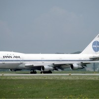 Pan Am Boeing 747-100 &quot;Clipper Neptune&#039;s Car&quot; (N742PA) seen in Zurich, 1985. (Photo by Eduard Mamet via wikimedia)