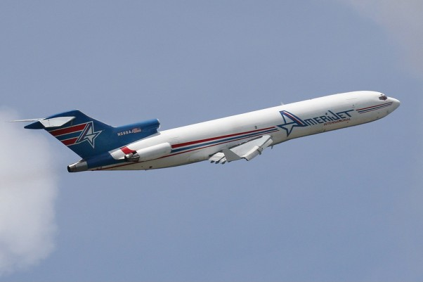 Amerijet has sent two rotations to Haiti with a 727 so far today. (Photo by Mario J. Craig)