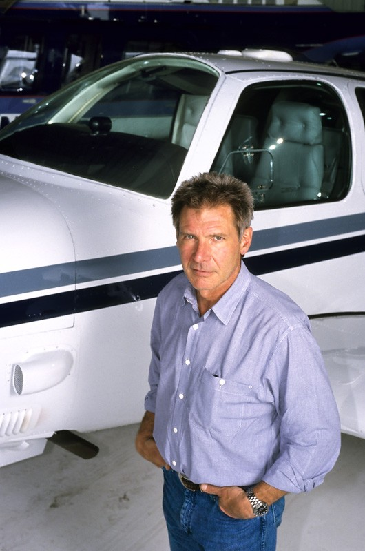 Harrison Ford is a big aviation enthusiast and pilot. He once bought a helicopter in South America for $2 million on the spot.