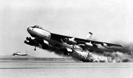 XB-47 test flight, later to become the B-47 Stratojet.