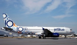 JetBlue's new 10th anniversary scheme on A320 N569JB.