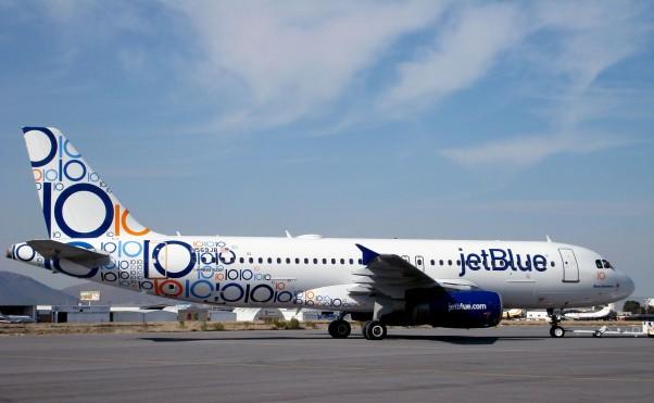 JetBlue's new 10th anniversary scheme on A320 N569JB.