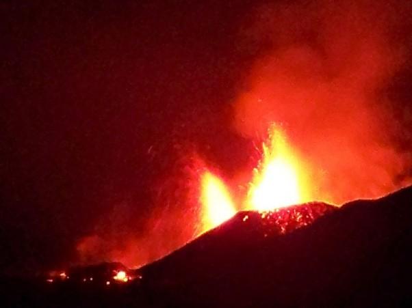 Eyjafjallajokull erupts in Iceland.