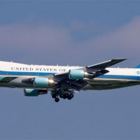 Air Force One on approach to JFK Airport (Photo by John Musolino)
