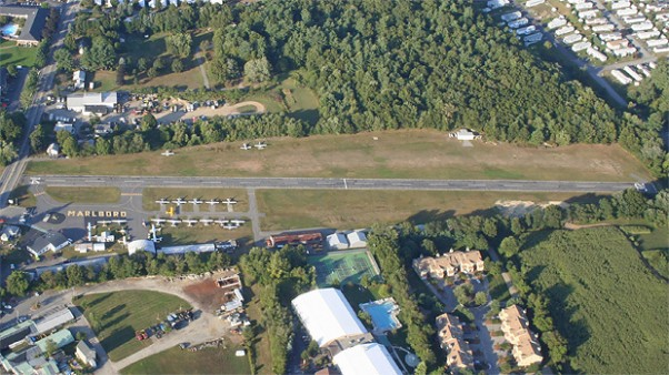 Marlboro Airport as seen from the air. (Photo by Dudley Darling)