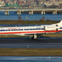 ERJs like this one will have to show their tolerance for diversity as American Eagle introduces CRJ-700s to LGA. (Photo by Matthew Smith)