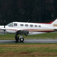 A Cessna 421 similar to this one, crashed in Texas today, killing all 5 onboard. (Photo by Mark Hsiung)