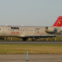 Pinnacle Airlines served Northwest Airlines regional operations since they bought the company from Republic in 1986, and would later merge with Delta. (Photo by Matthew Smith)