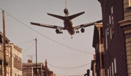 An American Airlines McDonnell Douglas DC-10 on final approach to Boston Logan Airport. (Photo by Michael Philip Manheim/NARA)