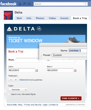 Delta Ticket Window Facebook