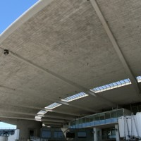 The famed concrete canopy that has been hanging over Delta aircraft for decades sits on death row. (Photo by Brian Futterman)