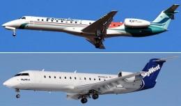 Skywest ERJ-145LR and SkyWest CRJ-200ER