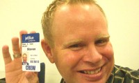 Steven Slater poses with his JetBlue ID card.