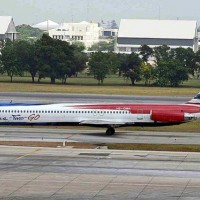 One-Two-Go  Airlines MD-82, registered HS-OMA [By Ken Fielding]