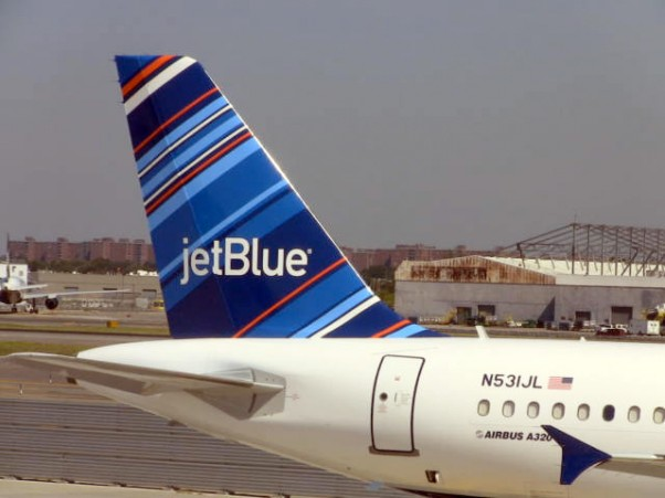 "JetBlue's ""All Blue Can Jet"" Airbus A320 N531JL. (Photo by JetBlue)"