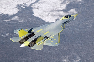 Sukhoi T-50 prototype first flight