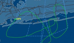 Flight path Delta Flight 30 engine fire