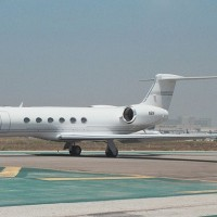 Steve Jobs Gulfstream V N2N at LAX