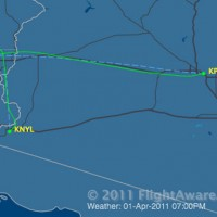 Southwest Flight 812 flight path. (Courtesy of FlightAware.com)