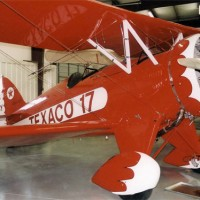 The speed ring is highly visible on this 1932 Waco biplane, used by Texaco. (Photo by RuthAS)